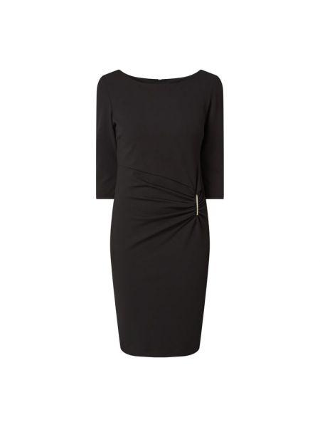 Czarna sukienka koktajlowa rozkloszowana Paradi