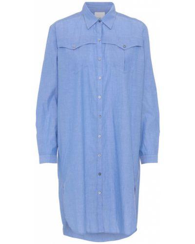 Niebieska sukienka zapinane na guziki oversize Project Aj117