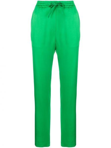 Брюки с завышенной талией зеленый брюки-хулиганы Iceberg
