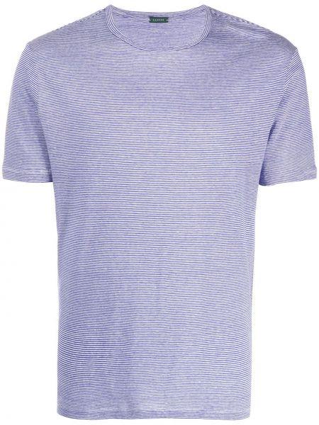 Koszula krótkie z krótkim rękawem z paskami w paski Zanone