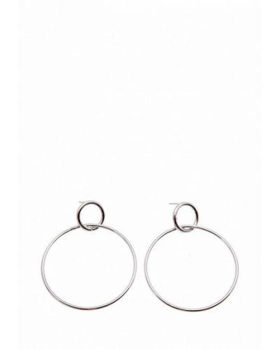 Серьги-кольца серебряного цвета Aiyony Macie