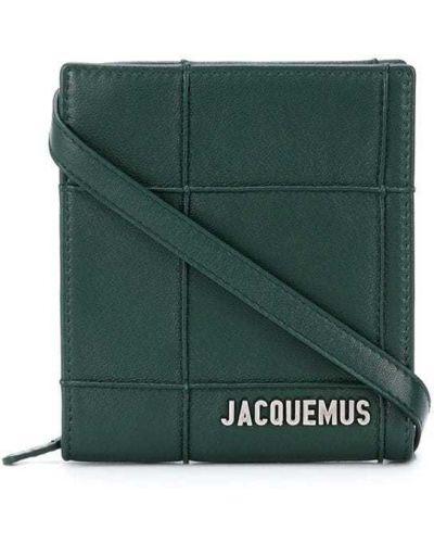 С ремешком кожаная сумка на плечо в клетку Jacquemus