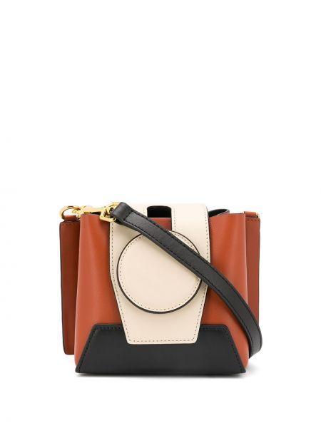 Кожаная сумка на цепочке на плечо Yuzefi