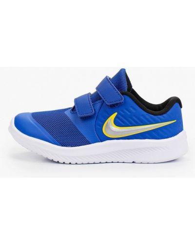 Текстильные синие кроссовки Nike