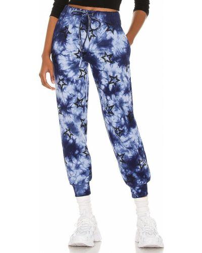 Шелковые синие брюки на резинке Central Park West