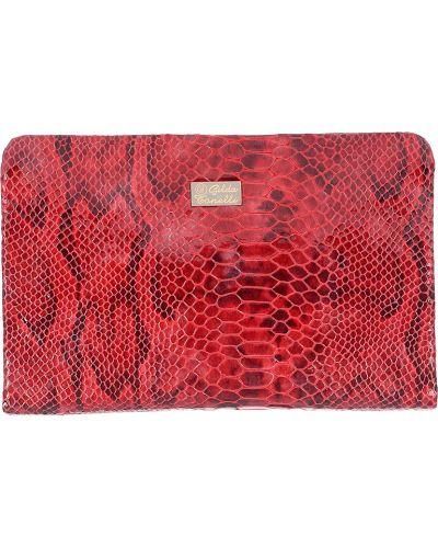 Кожаный клатч - красный Gilda Tonelli