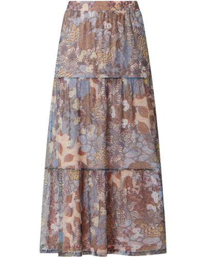 Spódnica maxi z falbanami rozkloszowana turkusowa Esprit