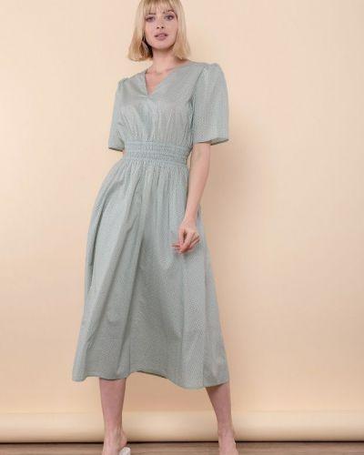 Платье с подкладкой мятное Mr520