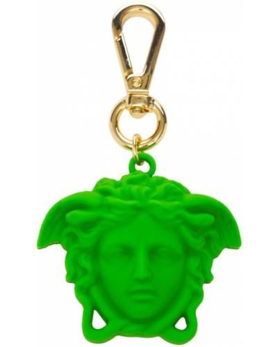 Złoty charms - zielony Versace