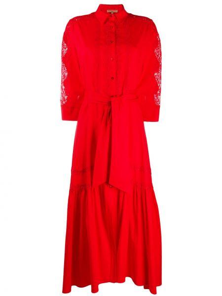 Платье с поясом на пуговицах классическое Ermanno Scervino