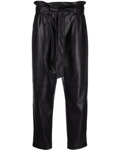 Кожаные брюки - черные Luisa Cerano
