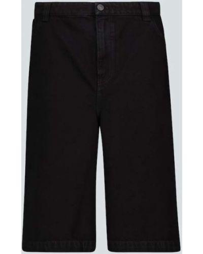 Bawełna czarny jeansy z kieszeniami w połowie kolana Balenciaga