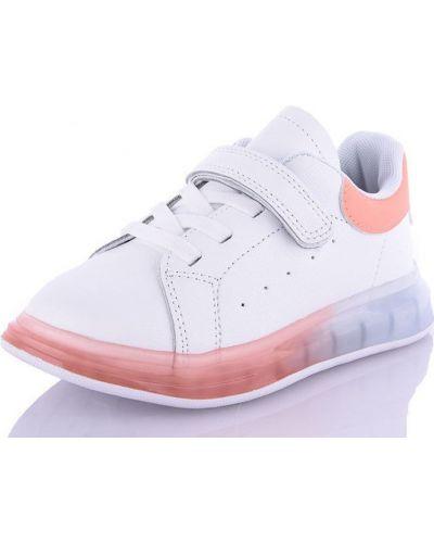Нарядные оранжевые кожаные кроссовки Jong Golf