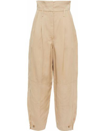 Żółte spodnie z paskiem z wiskozy Givenchy