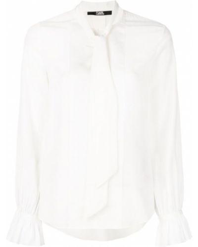 Блузка с воротником-стойкой с бантом Karl Lagerfeld