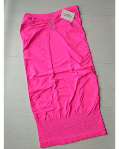 Розовое платье со стразами из микрофибры Greenice
