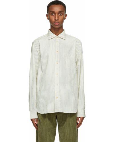Biała koszula z długimi rękawami - biała Gucci