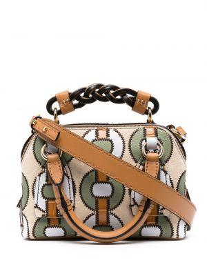 Z paskiem brązowy skórzany portfel Chloe