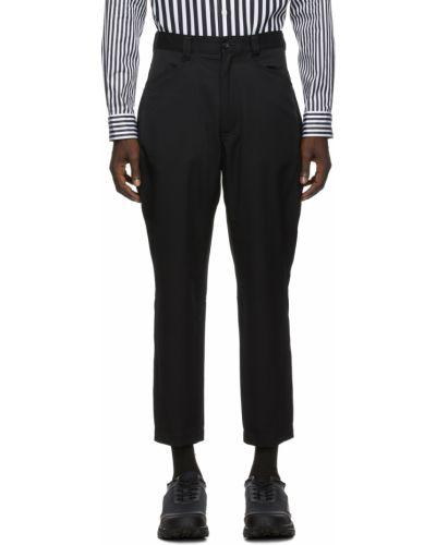 Czarne spodnie z paskiem srebrne Comme Des Garcons Homme Plus