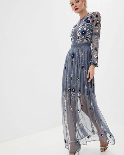 Вечернее платье с оборками - серое Frock And Frill