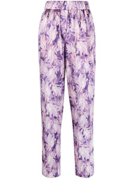 Шелковые брюки - фиолетовые Forte Forte