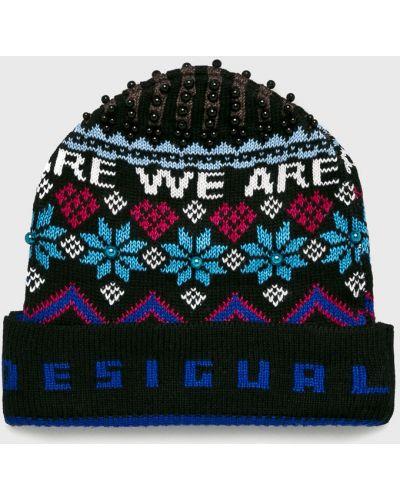 Зимняя шапка с отворотом из джерси Desigual
