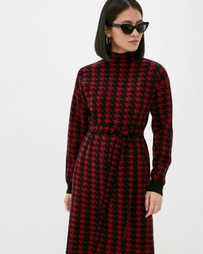 Трикотажное красное вязаное платье Silvian Heach