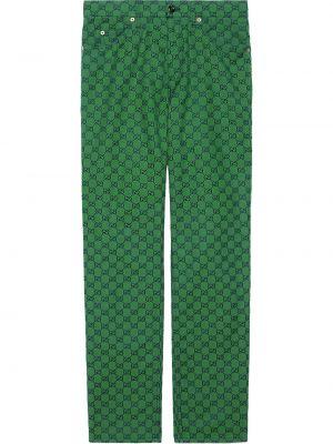 Klasyczne spodnie, zielony Gucci