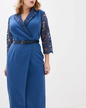 Повседневное платье осеннее синее Mankato