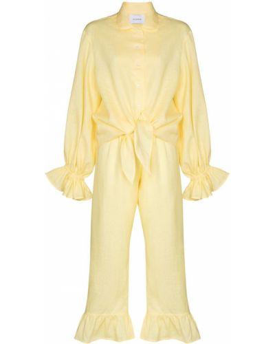 Żółty garnitur z długimi rękawami materiałowy Sleeper
