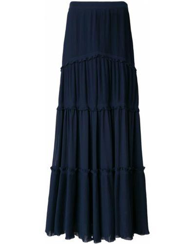 Синяя юбка с воланами Tory Burch