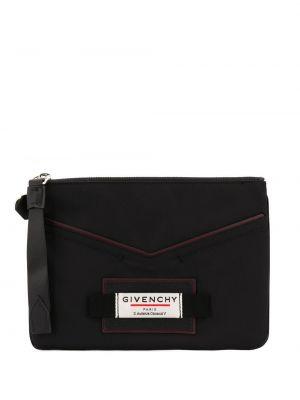 Torba sprzęgło czarny z łatami Givenchy