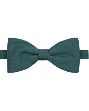 Zielona mucha z haftem z jedwabiu Blick