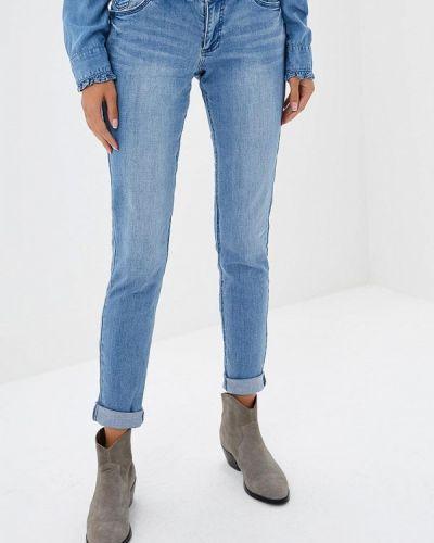 Голубые джинсы-скинни S.oliver