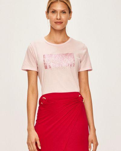 Топ с вырезом - розовый Guess Jeans