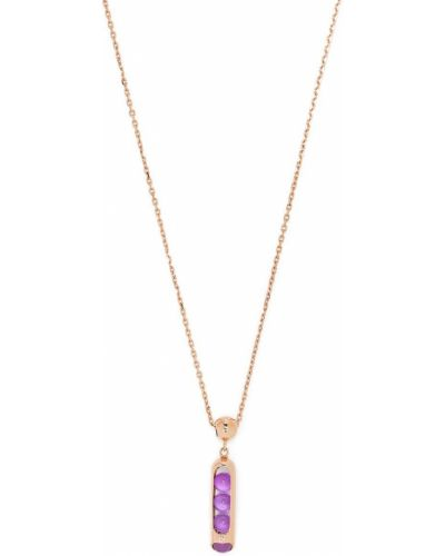 Złoty naszyjnik łańcuch - fioletowy Zeemou Zeng