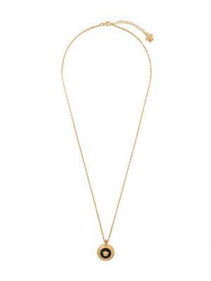 Золотистая желтая цепочка металлическая Versace