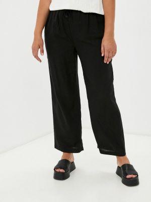 Черные широкие брюки Rosa Thea