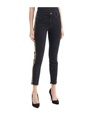 Укороченные джинсы черные Luisa Spagnoli