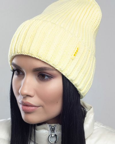 Кашемировая шапка - желтая Leks-jolie