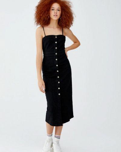 Джинсовое платье осеннее черное Pull&bear