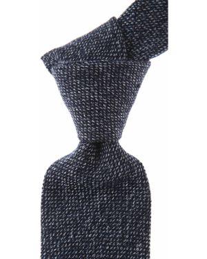 Niebieski krawat bawełniany Belvest