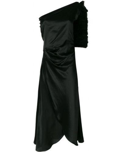 Ночнушка шелковая черный Maguy De Chadirac