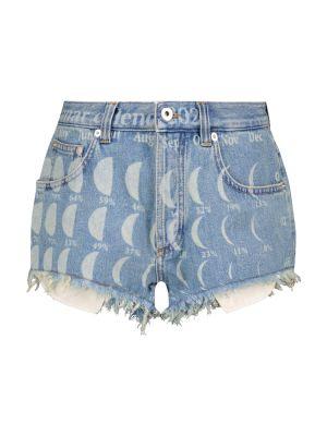 Синие хлопковые джинсовые шорты для полных Loewe