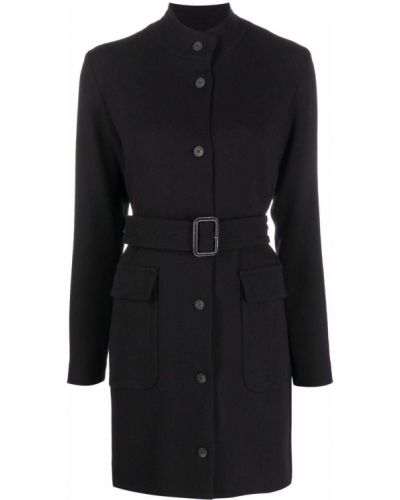 Czarna sukienka długa wełniana Antonelli