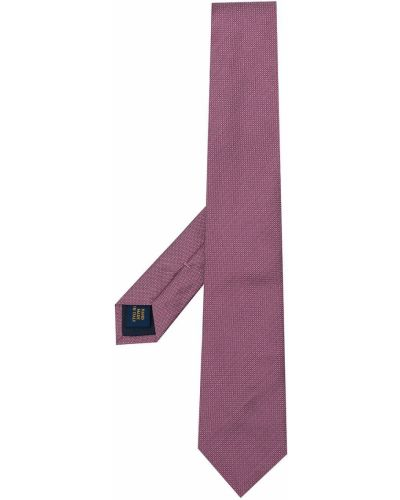 Krawat z printem - różowy Polo Ralph Lauren