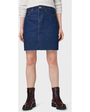 Джинсовая юбка синяя Tom Tailor Denim
