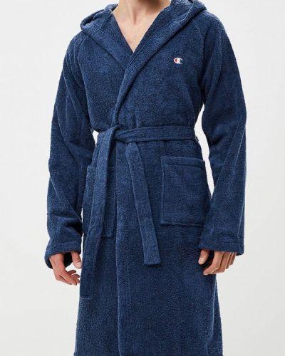 Синий халат Champion