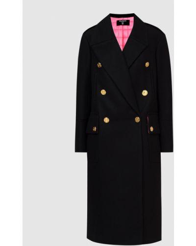 Шерстяное пальто - черное Balmain