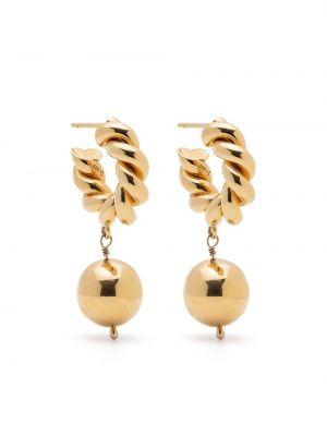 Złote kolczyki sztyfty Isabel Lennse